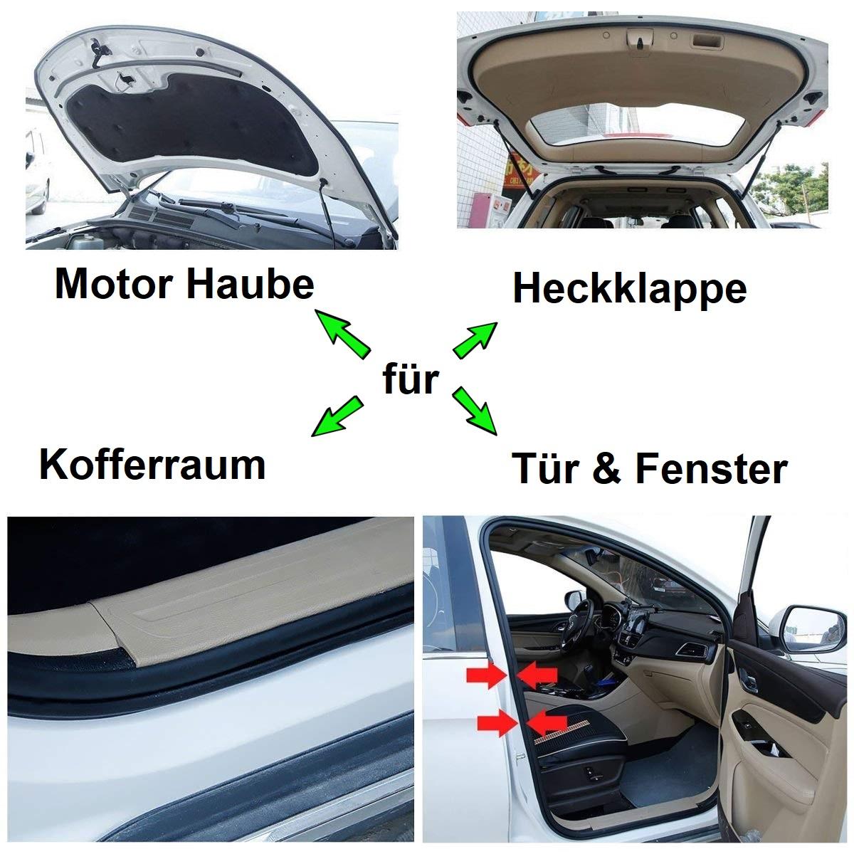 Universal V-typ Auto Gummidichtung Fensterdichtung Tür Schalldämmung Dichtung 4m