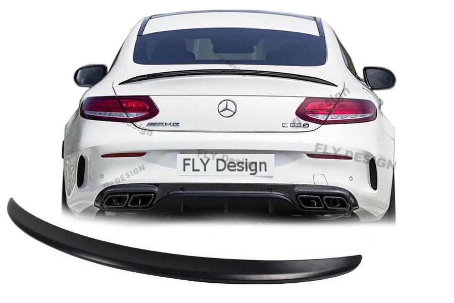 aus ABS NEU Heckspoiler W205 in Carbon Optik für dynamischen Tuning in AMG Stil