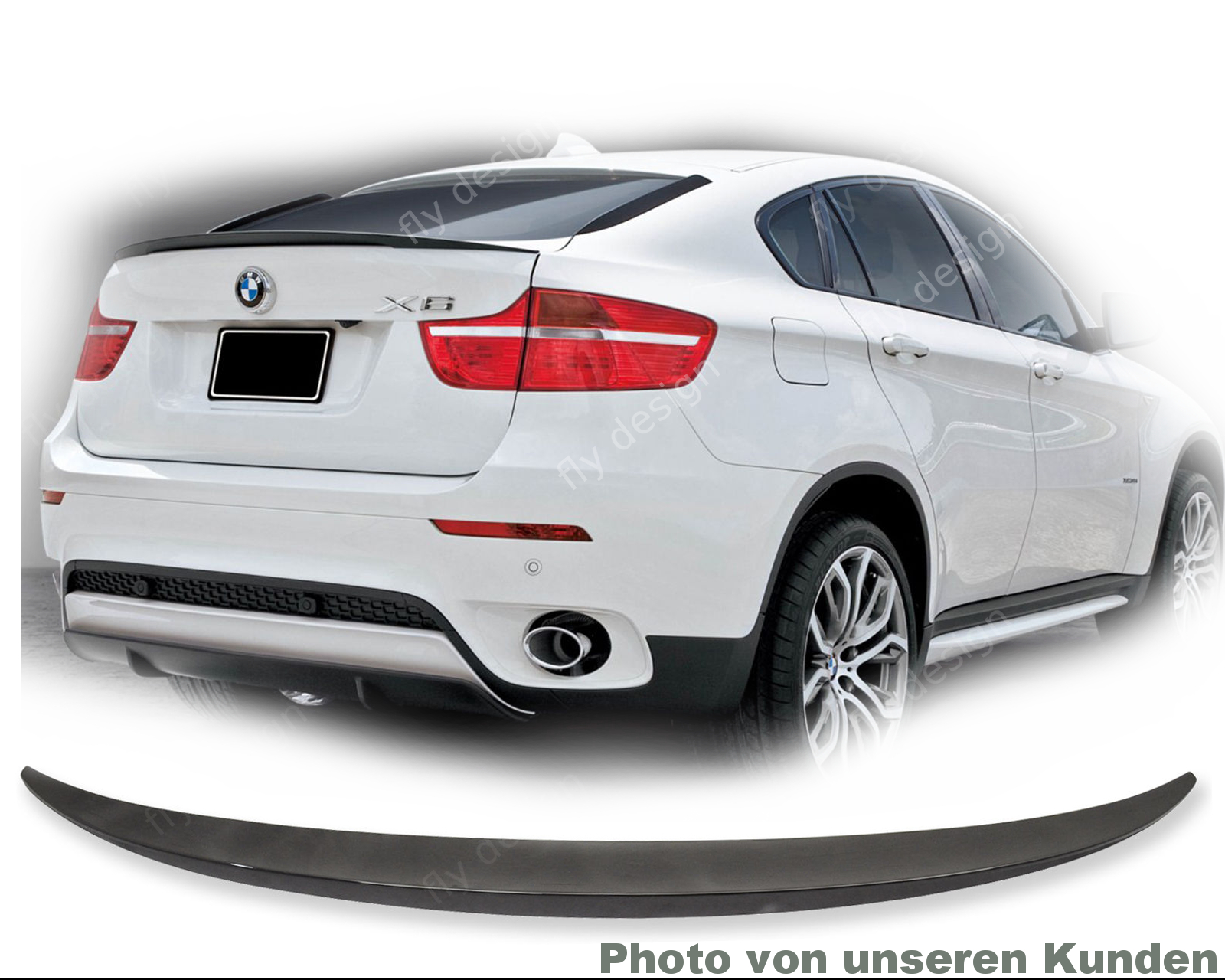 f r bmw x6 tuning e71 heckspoiler spoiler x6 m optik. Black Bedroom Furniture Sets. Home Design Ideas