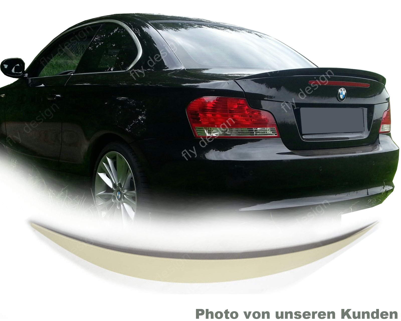 saphir schwarz spoiler bmw 1er e82 heckspoiler fl gel wing. Black Bedroom Furniture Sets. Home Design Ideas