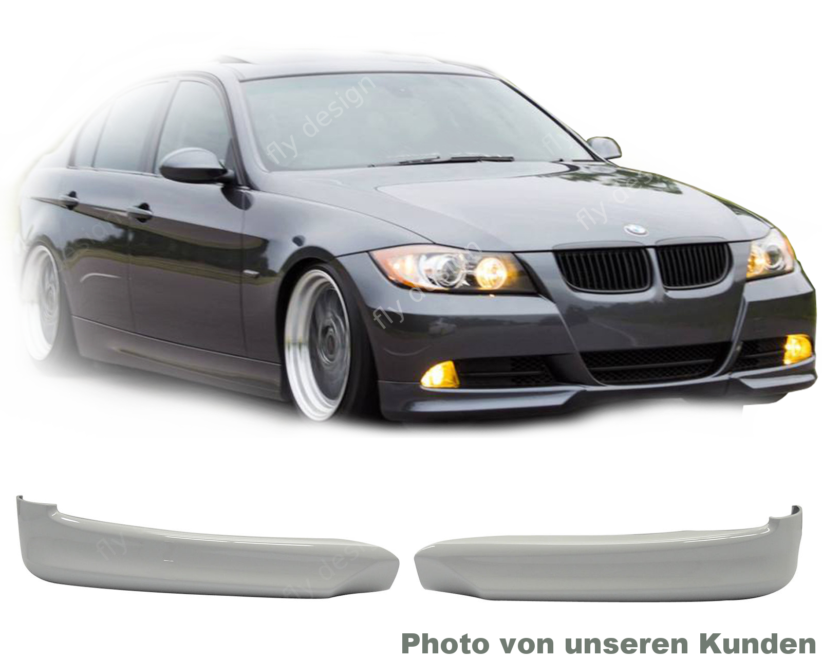 bmw e90 e91 05 09 3er sto stange frontspoiler lippe. Black Bedroom Furniture Sets. Home Design Ideas
