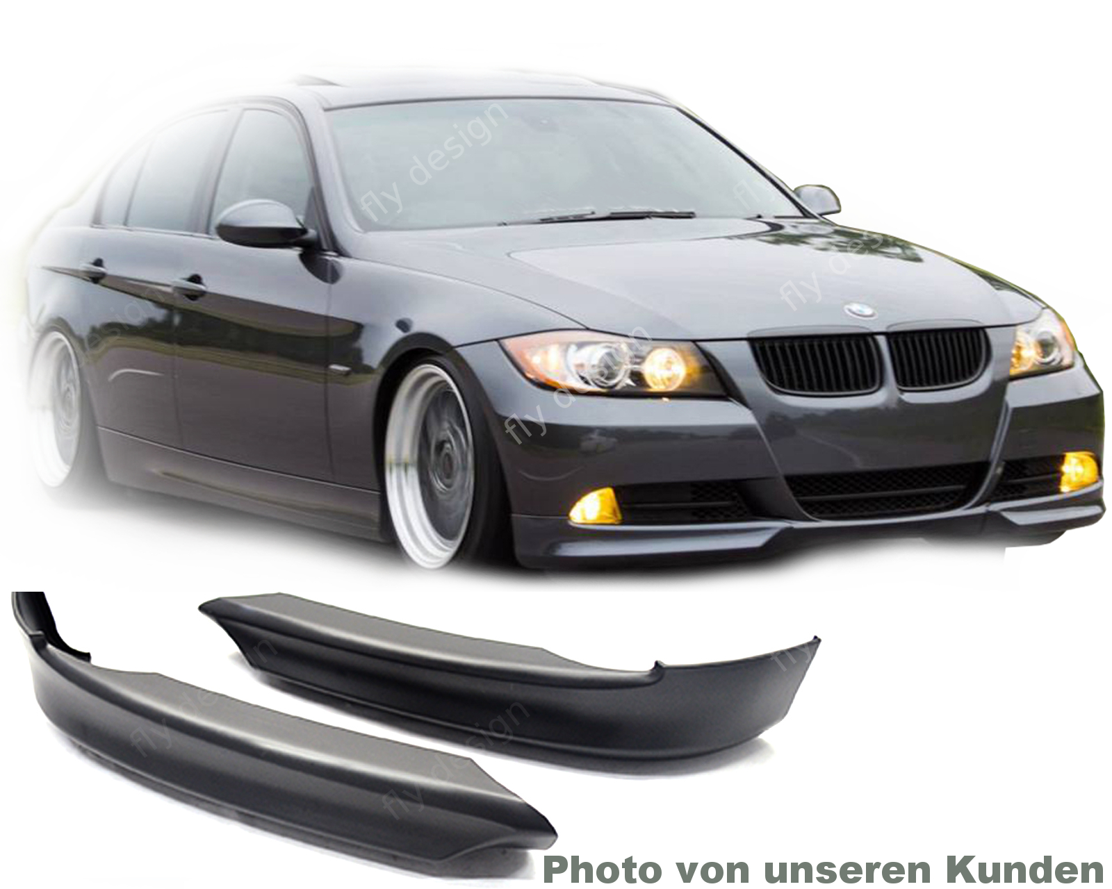 bmw e90 e91 frontspoiler spoiler front splitter diffusor. Black Bedroom Furniture Sets. Home Design Ideas