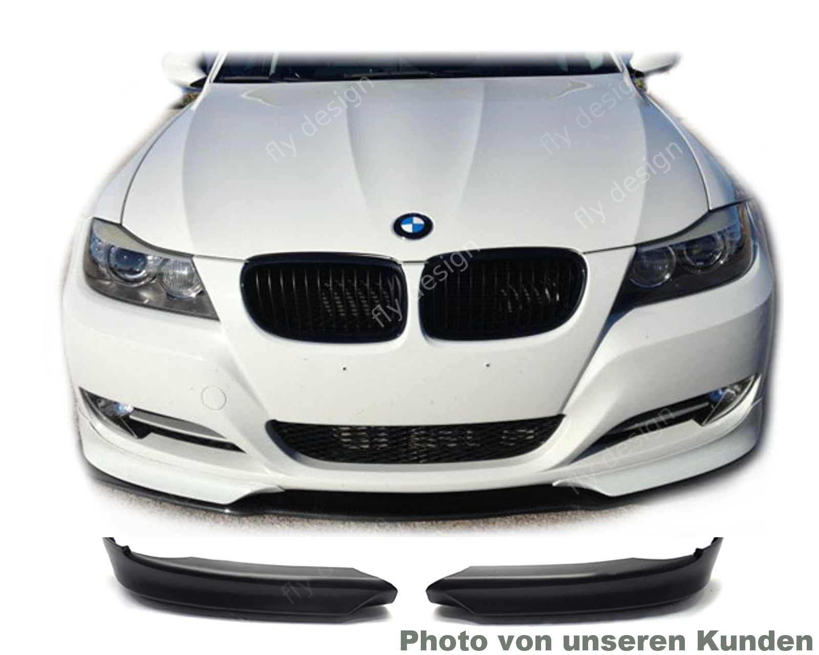 bmw e90 e91 lci limousine touring frontspoiler spoiler. Black Bedroom Furniture Sets. Home Design Ideas