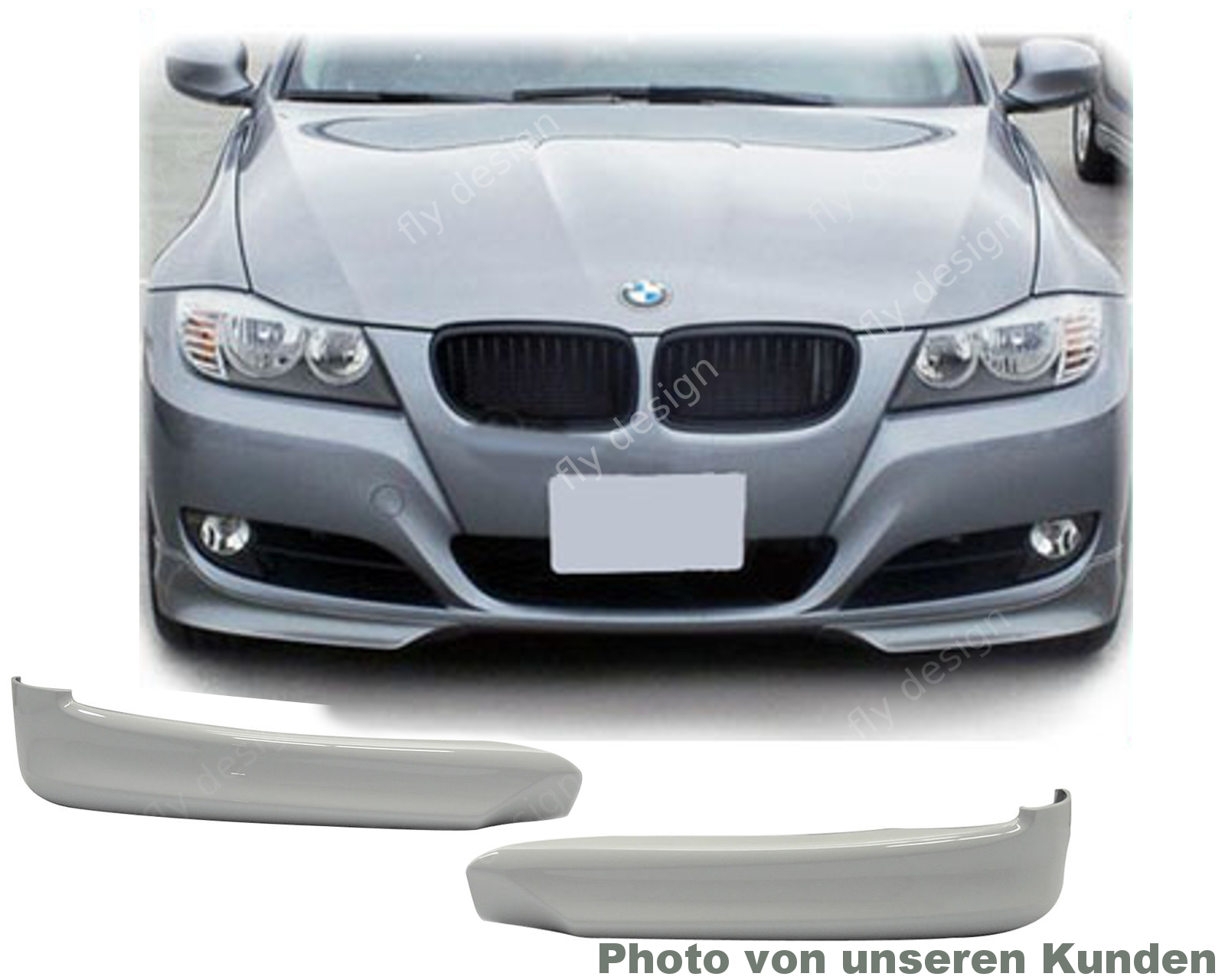bmw e90 e91 lci frontspoiler front lippe spoiler 08 11. Black Bedroom Furniture Sets. Home Design Ideas