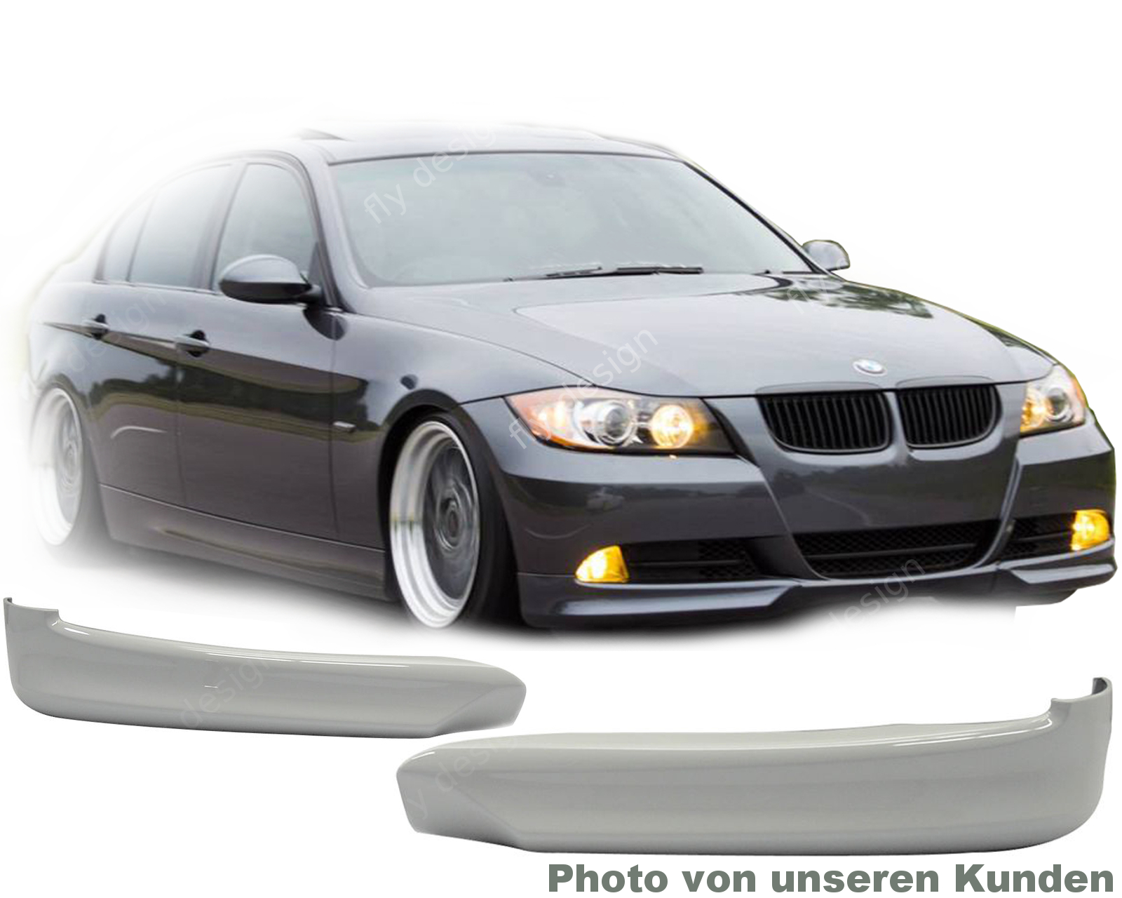 bmw e91 facelift tuning front spoiler front lip splitter. Black Bedroom Furniture Sets. Home Design Ideas