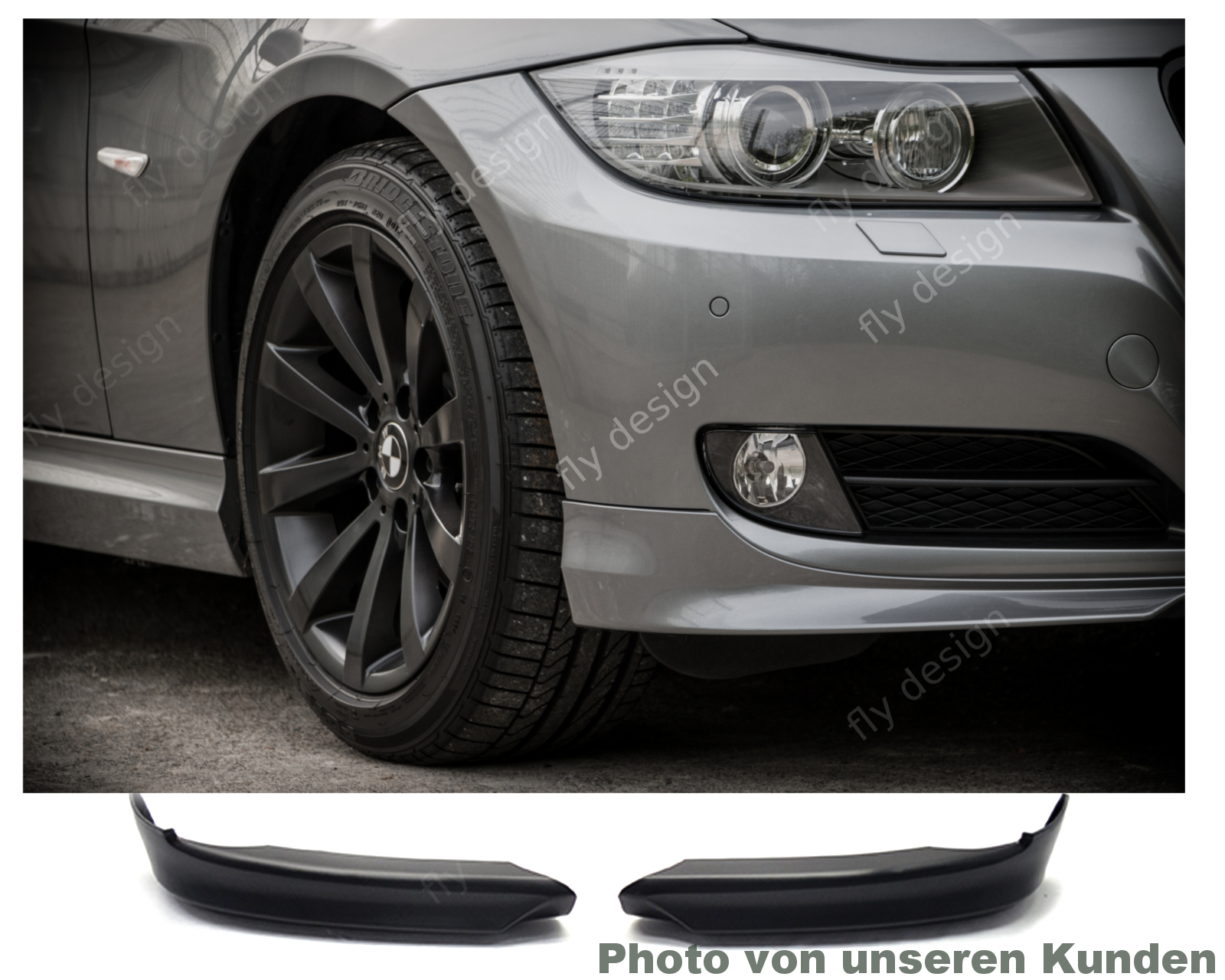 bmw e90 e91 2008 12 lci frontspoiler spoiler front. Black Bedroom Furniture Sets. Home Design Ideas