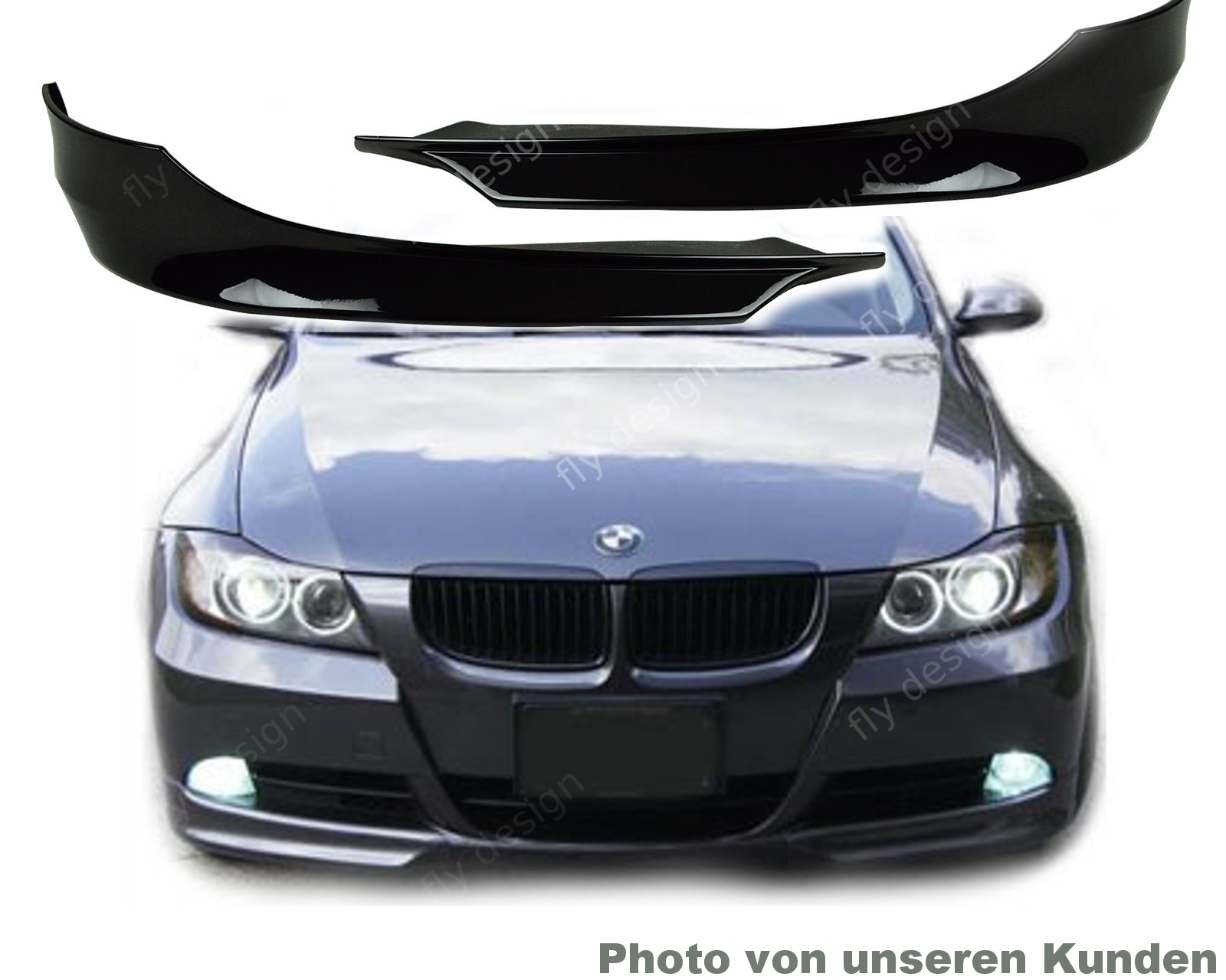 bmw e91 e90 08 11 tuning frontspoiler front lippe splitter. Black Bedroom Furniture Sets. Home Design Ideas