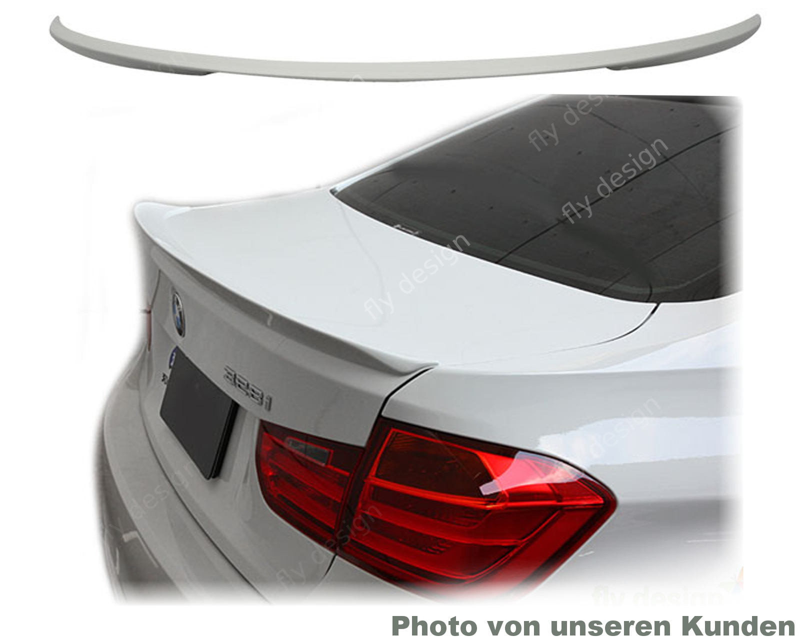 bmw f30 tuning performance spoiler heckspoiler fl gel. Black Bedroom Furniture Sets. Home Design Ideas
