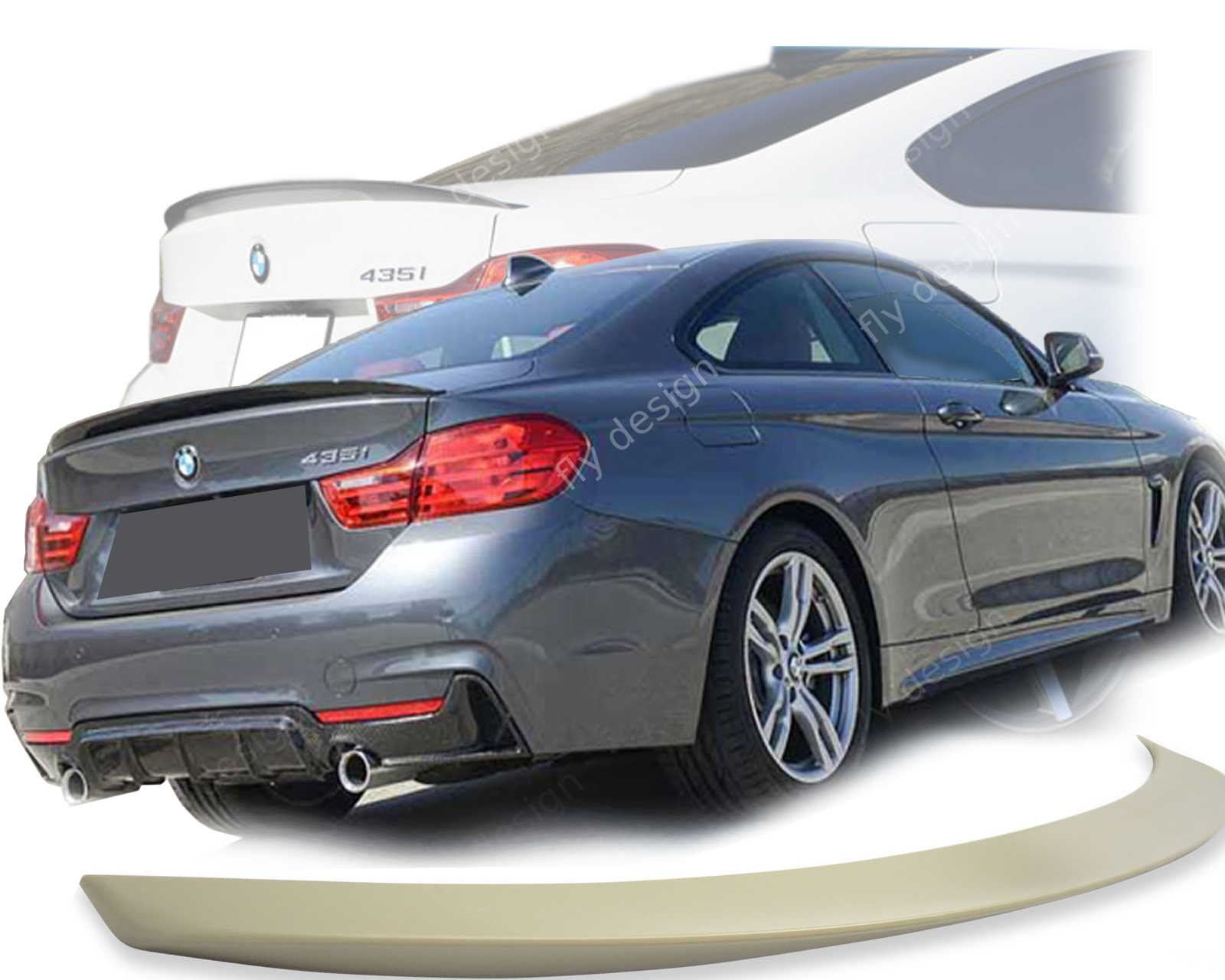 bmw f32 4er coupe m heckspoiler heckfl gel type p ebay. Black Bedroom Furniture Sets. Home Design Ideas