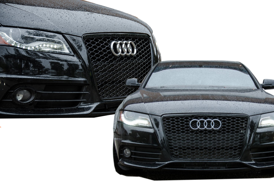 audi a4 b8 rs s line s4 tuning 2009 12 front grille. Black Bedroom Furniture Sets. Home Design Ideas