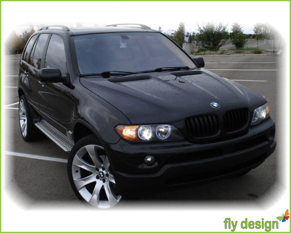bmw e53 x5 nieren grill k hlergrill schwarz 2003 2007 ebay. Black Bedroom Furniture Sets. Home Design Ideas