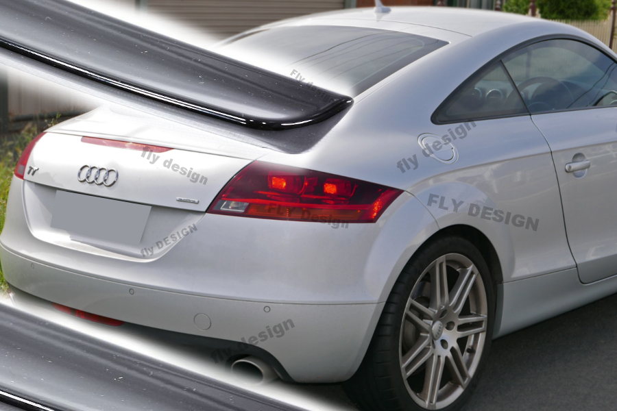 audi tt tuning rear trunk lid 2006 black gloss tail gate. Black Bedroom Furniture Sets. Home Design Ideas