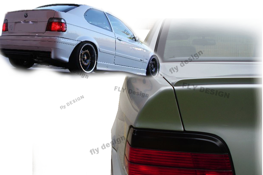 for bmw e36 spoiler m3 tuning fin becquet rear wing aero. Black Bedroom Furniture Sets. Home Design Ideas