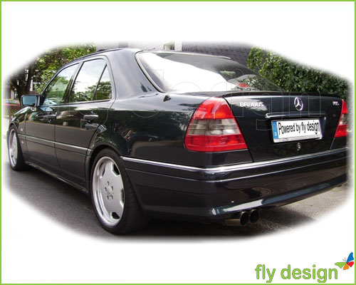 mercedes c w202 spoiler heckspoiler fertig lackiert ebay. Black Bedroom Furniture Sets. Home Design Ideas