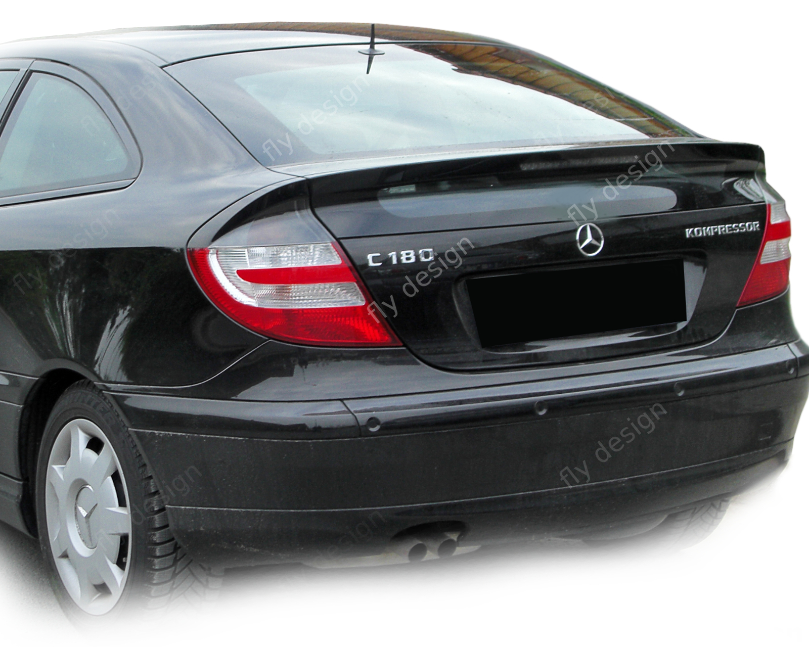 mercedes c klasse cl 203 w203 sport coupe spoiler kompressor heckspoiler 2000 08 ebay. Black Bedroom Furniture Sets. Home Design Ideas