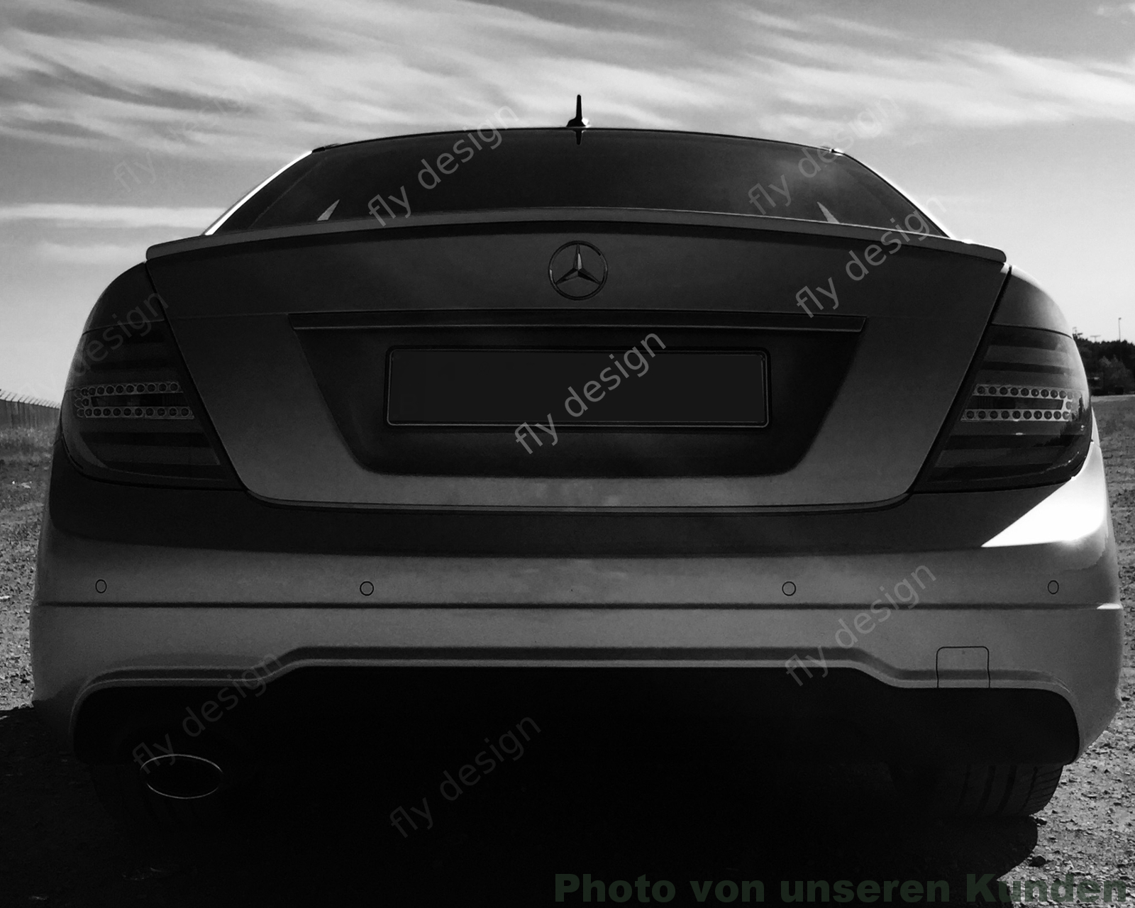 Mercedes C204 C63 Amg Coupe Heckspoilerlippe